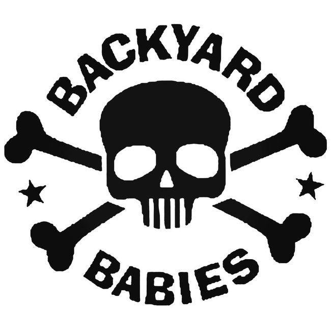 Backyard Babies Skull Decal Sticker