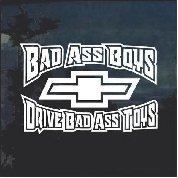 Bad Ass Boys Chevy 2 Window Decal Sticker