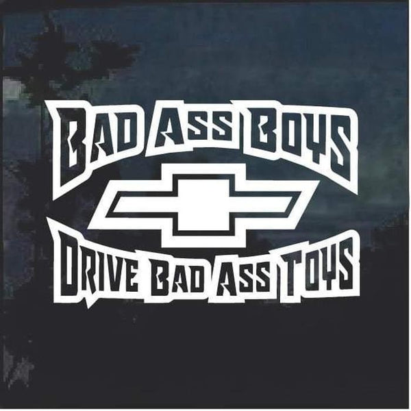 Bad Ass Boys Chevy 3 Window Decal Sticker