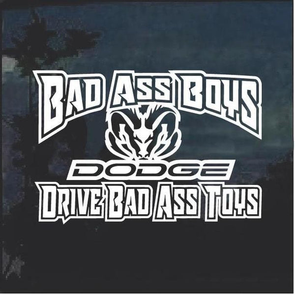 Bad Ass Boys Dodge 2 Window Decal Sticker
