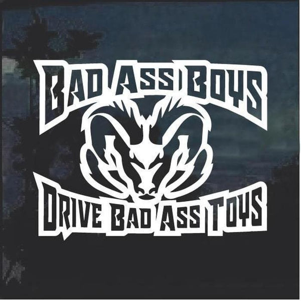 Bad Ass Boys Dodge 3 Window Decal Sticker