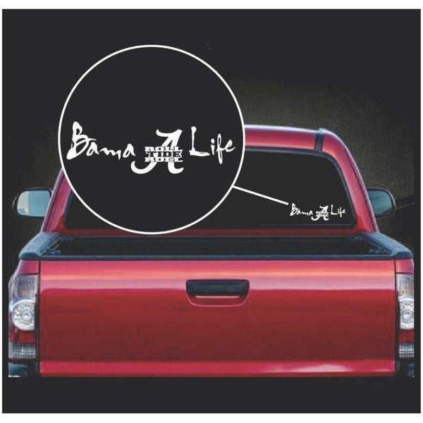 Bama Life Roll Tide Roll Alabama Window Decal Sticker