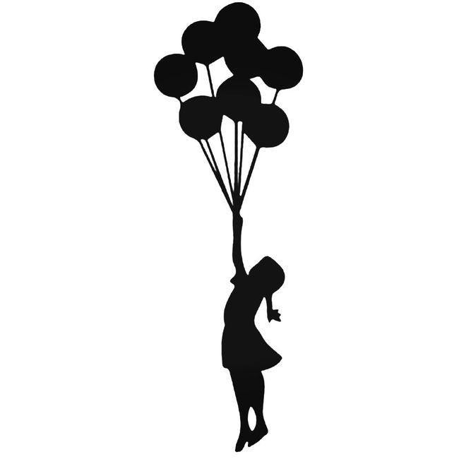 Banksy Girl With Balloons Decal Sticker