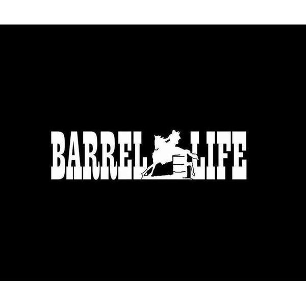 Barrel Life Barrel Racing Truck Decal Sticker