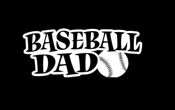 Baseball Dad Window Decal Sticker