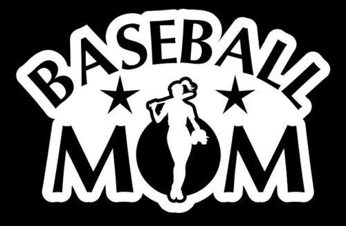 Baseball Mom Girl Window Decal Sticker