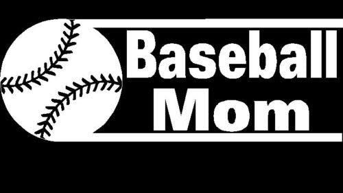 Baseball Mom Window Decal Sticker A2