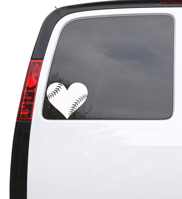 Auto Car Sticker Decal Baseball Heart Ball Sports Truck Laptop