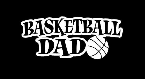 Basketball Dad Window Decal Sticker