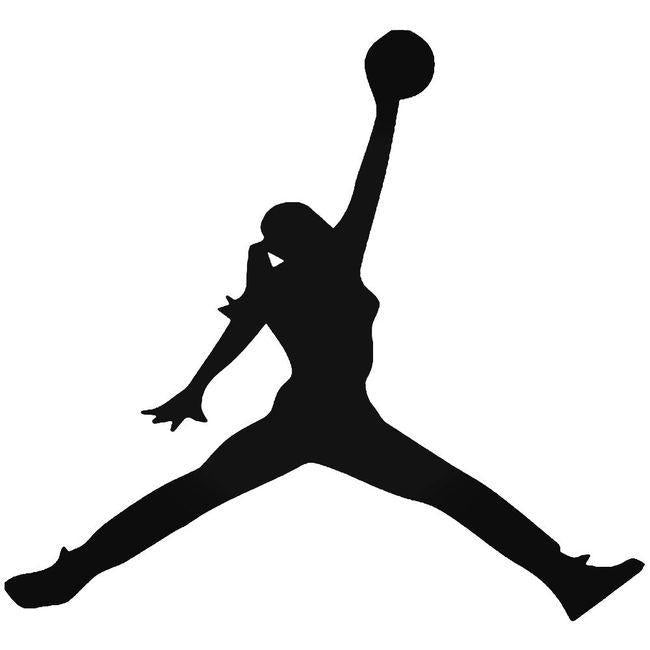 Basketball Jump Girl Decal Sticker