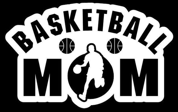 Basketball Mom Boy Window Decal Sticker