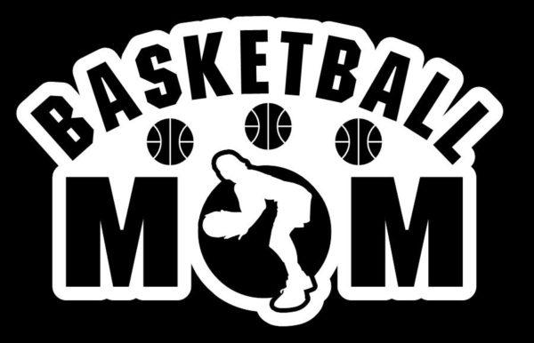 Basketball Mom Girl Window Decal Sticker