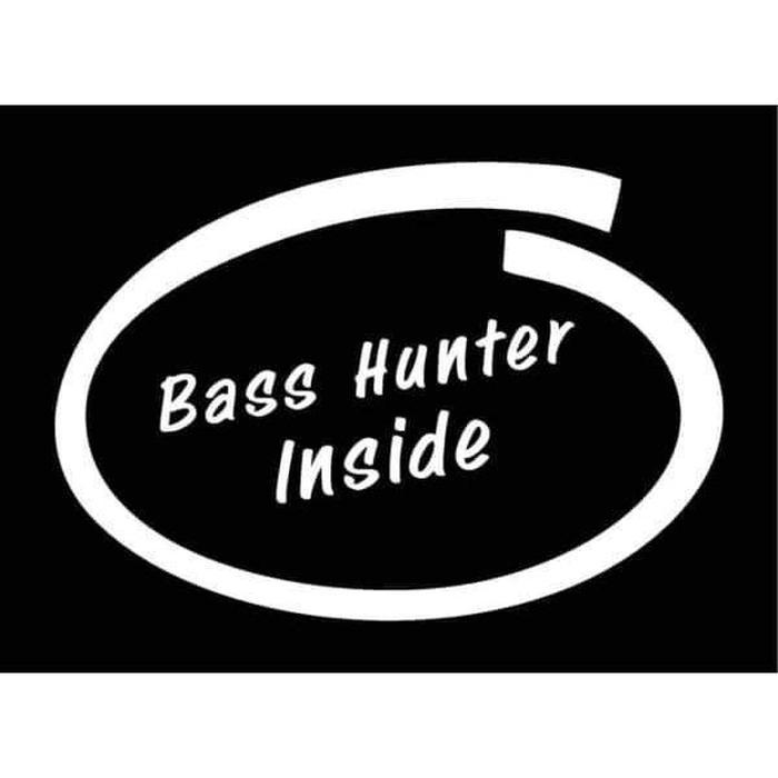 Bass Hunter Inside Fishing Decal Stickers