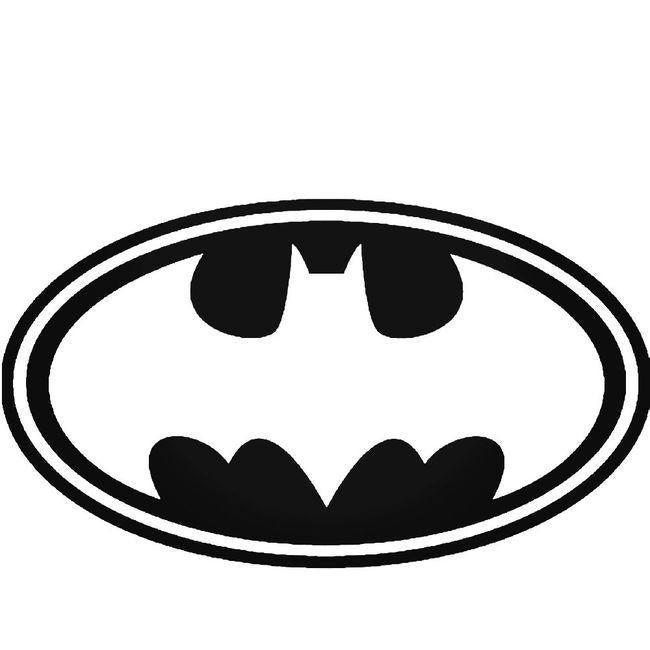 Batman 1989 Movie Symbol Out With Outer Ring Decal Sticker