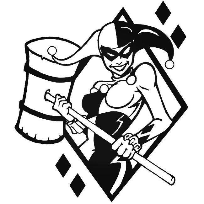 Batman Harley Quinn Mallet Decal Sticker