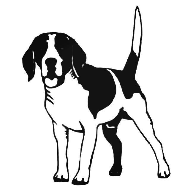 Beagle Style Vinyl Decal Sticker