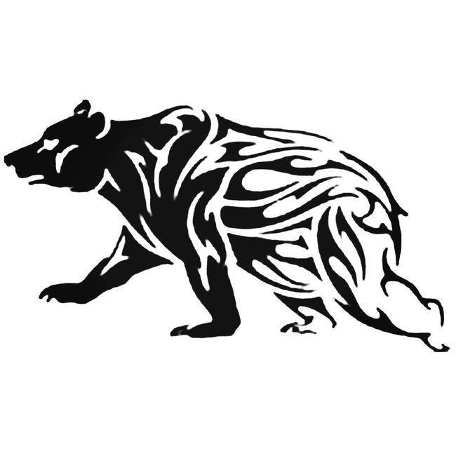 Bear 2 Flaming Animal Die Cut Decal Sticker