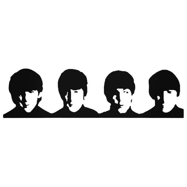 Beatles Row Of Faces Decal Sticker