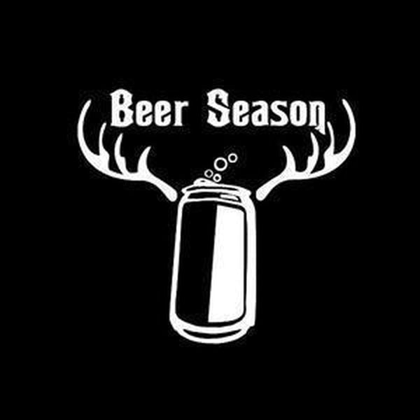 Beer Season Hunting Window Decal Sticker
