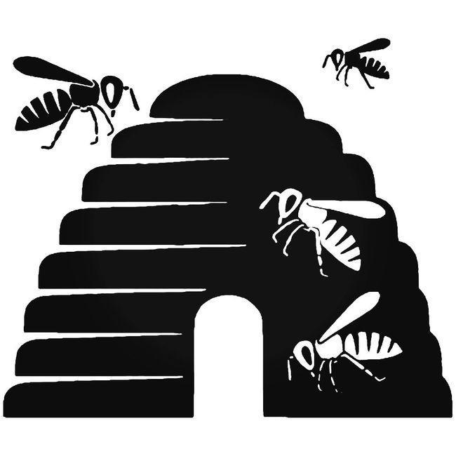 Bees Beehive Decal Sticker