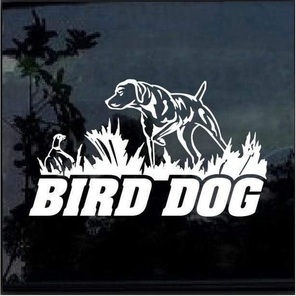 Bird Dog Duck Hunting Window Decal Sticker