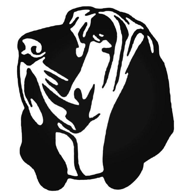 Bloodhound Head Decal Sticker