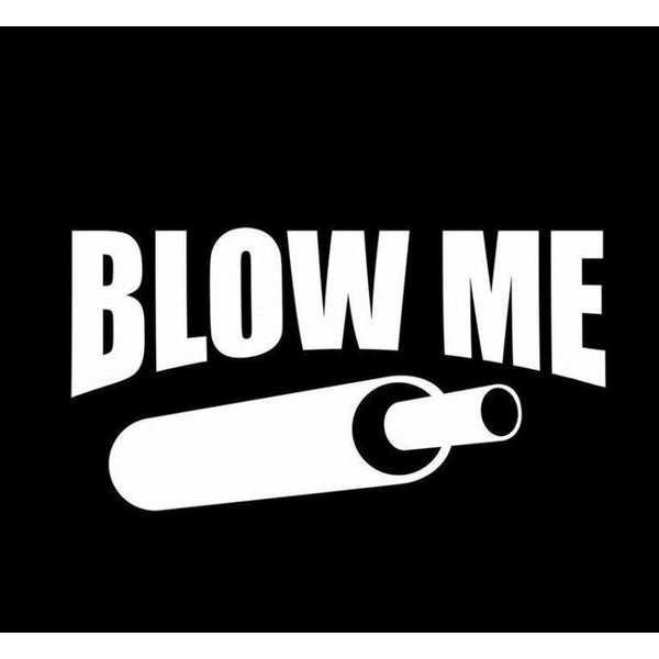 Blow Me funny Duck Call Hunting Window Decal Sticker