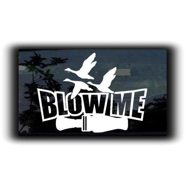 Blow Me funny Duck Call II Hunting Window Decal Sticker