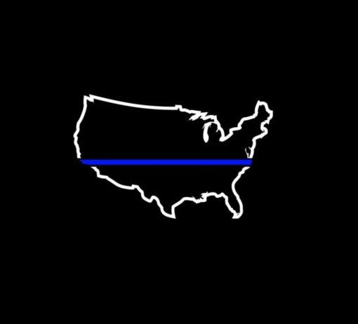 Blue lives Matter Sticker – Thin Blue Line Police Lives Decal