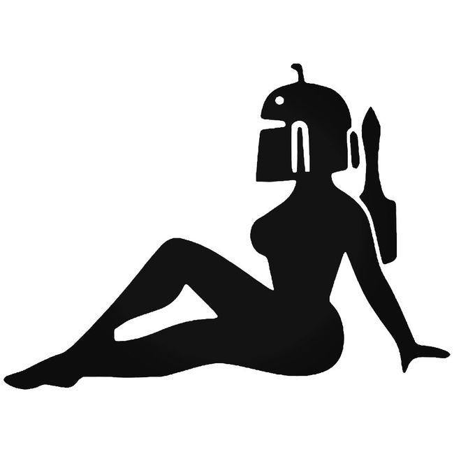 Boba Fett Sexy Mudflap Girl Decal Sticker