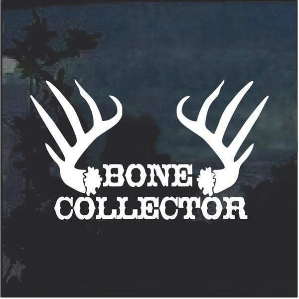 Bone Collector Antlers Window Decal Sticker