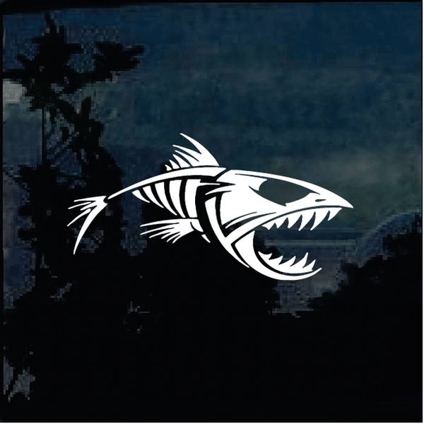 Bonefish Skeleton Decal Fishing Decal Stickers