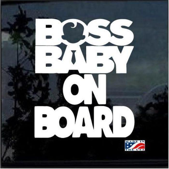 Boss Baby on Board – Baby on Board Sticker