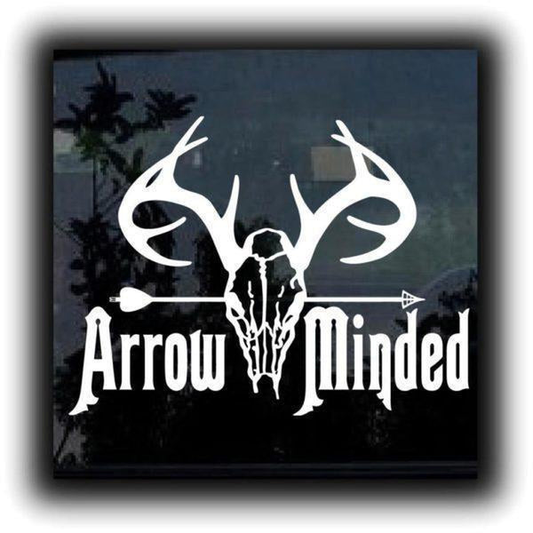 Bow Arrow minded Hunting Window Decal Sticker