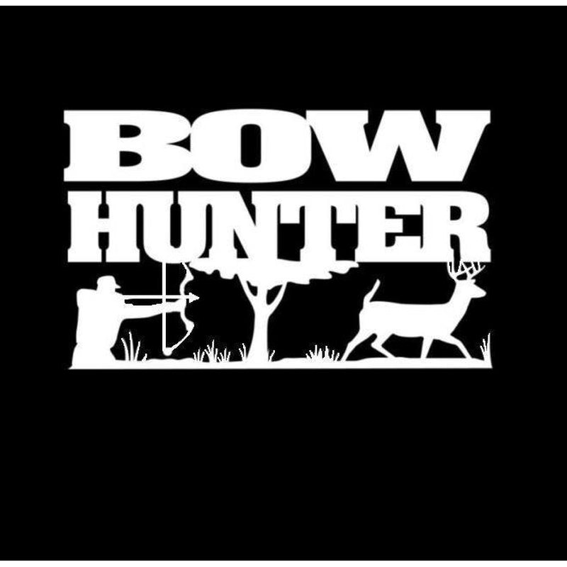 Bow Bow Hunter Buck Scene Hunting Window Decal Sticker