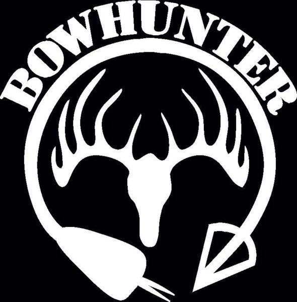 Bow Hunter Deer skull Hunting Window Decal Sticker