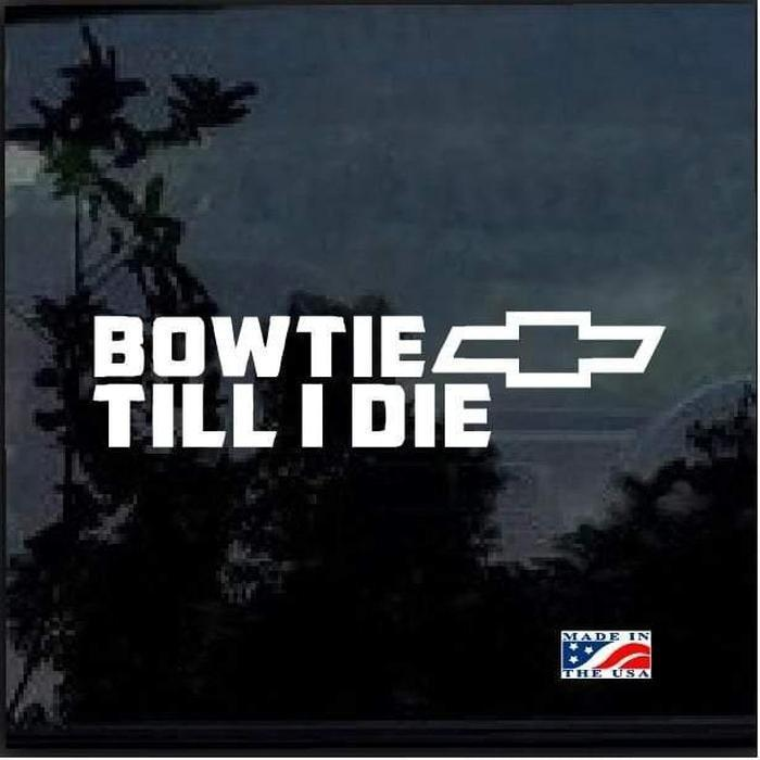 Bow Till I Die a2 Truck Decal Sticke