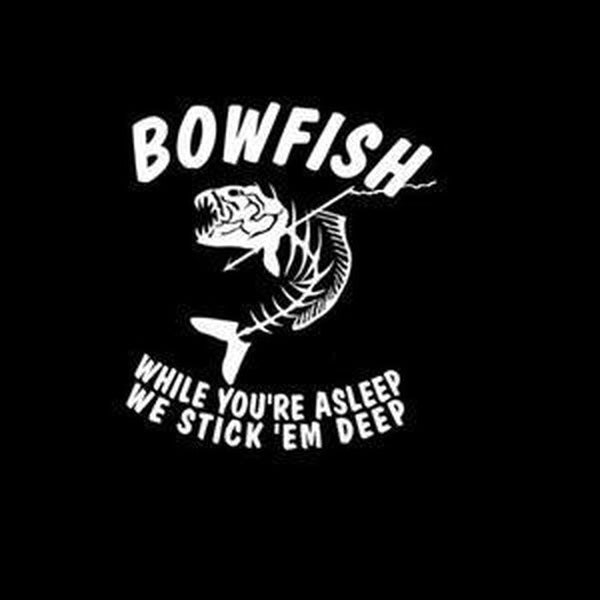 Bowfish Fishing Decal Stickers