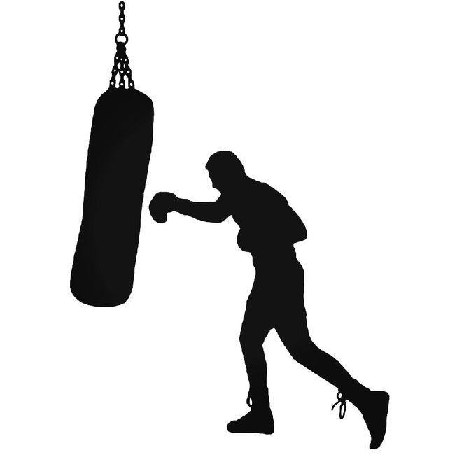 Boxing Boxer Bag Decal Sticker