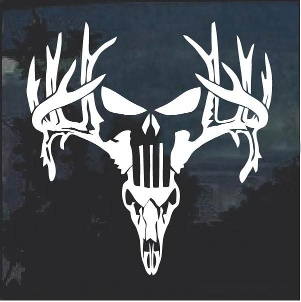 Buck Off Deer Hunting Window Decal Sticker