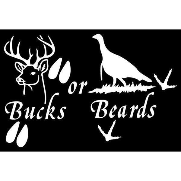 Bucks or Beards Hunting Window Decal Sticker