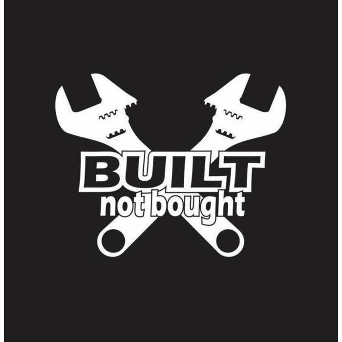 Built Not Bought Wrenches Truck Decal Sticker
