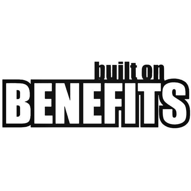 Built On Benefits Decal Sticker