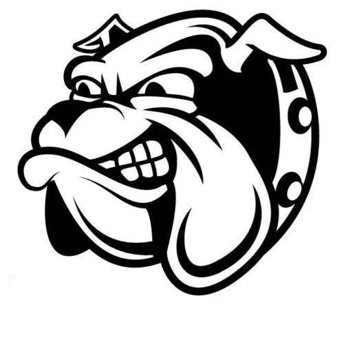Bulldog Cartoon Car Decal Sticker