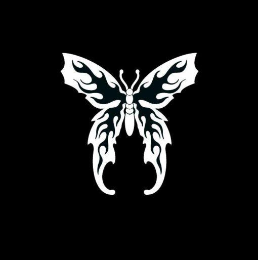 Butterfly Flame Wings Window Decal Sticker