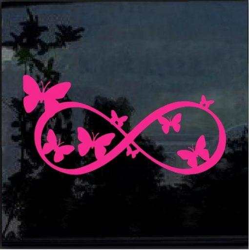 Butterfly Infinity Decal – Butterfly Stickers
