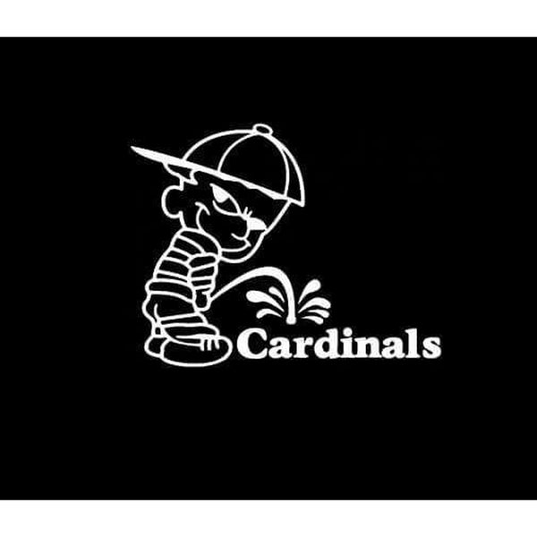 Calvin Piss on Arizona Cardinals Decal Stickers