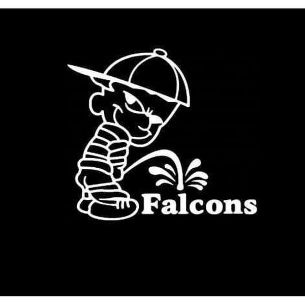 Calvin Piss on Atlanta Falcons Decal Stickers