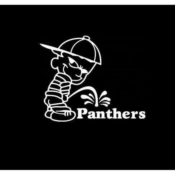 Calvin Piss on Carolina Panthers Decal Stickers