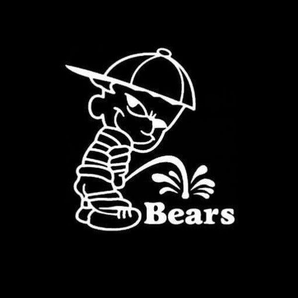 Calvin Piss on Chicago Bears Decal Stickers